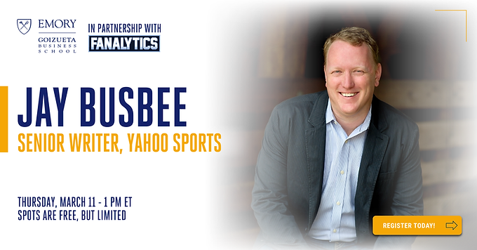 Join us for a Conversation with Yahoo Sports Writer Jay Busbee