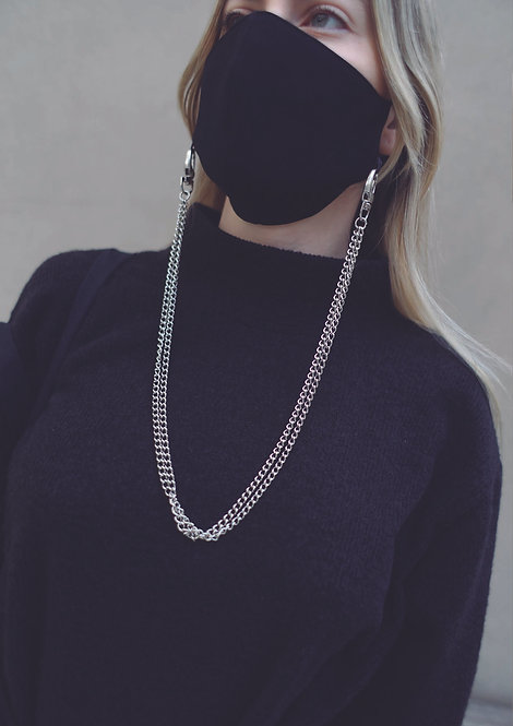 Crepe Face mask & Chain