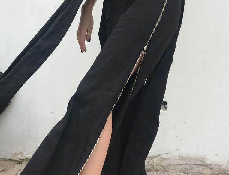Pantalón Zip 100% lino