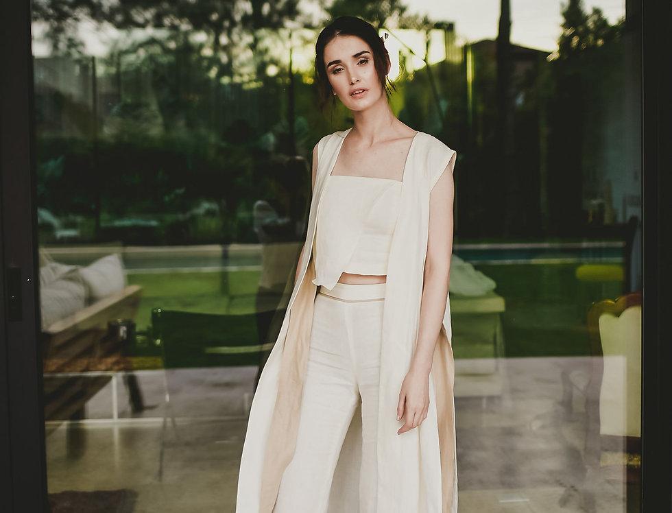 Pantalon Diagonal 100% lino