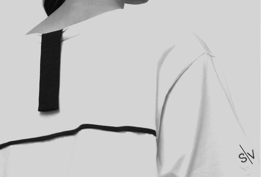 Remera S I V  100% pima -White