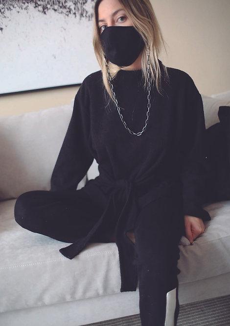 100% Linen Face mask & Chain