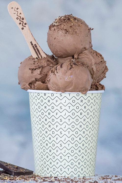 SJOKOLADEIS med sjokolade fra Geiranger sjokolade - 500 ml