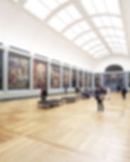 Mensen in Museum