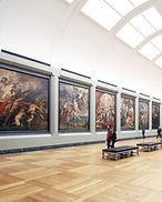 As pessoas no Museu