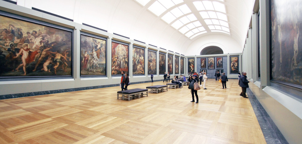 La gente en el Museo