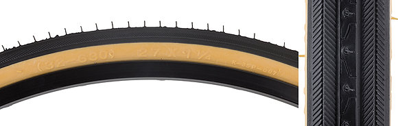 TIRES SUNLT 27x1-1/4 BK/GM RD HP90
