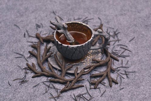 Ember Tea Cup, Saucer, and Spoon set