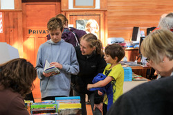 Kids exploring books
