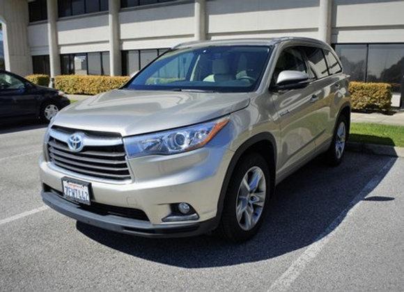 Toyota Highlander Hybrid Limited, AWD ( Gold )