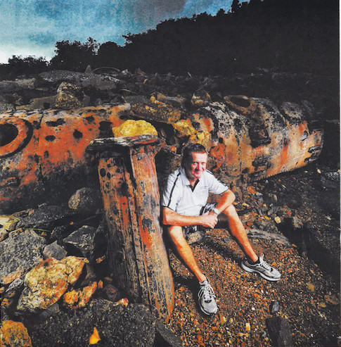 Amongst remains of the old Catalina Flying Boat Base