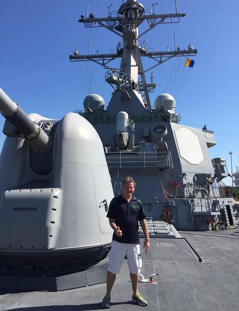 Aboard USS Fitzgerald - Darwin Harbour