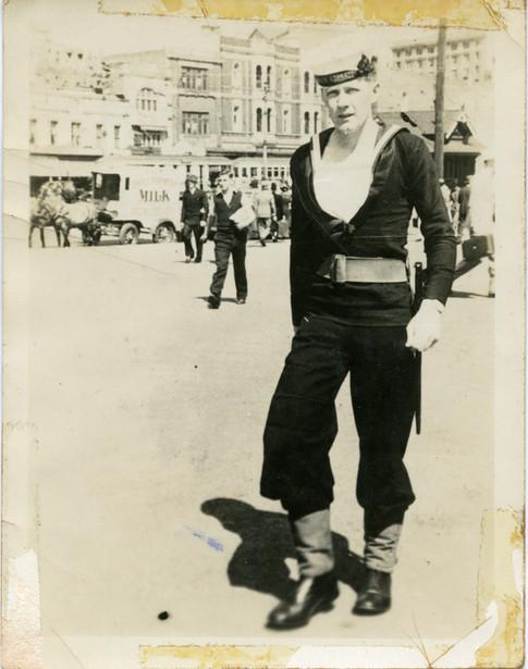 My dad Henry Gallagher on shore patrol Sydney 1942