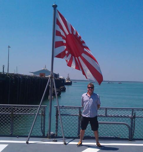 Aboard Japanese Naval destroyer HATIKAZE, Darwin Harbour
