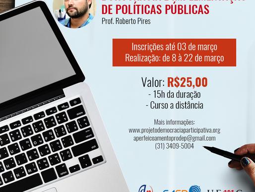 """Inscrições abertas para o curso """"Burocracia e implementação de políticas públicas"""""""
