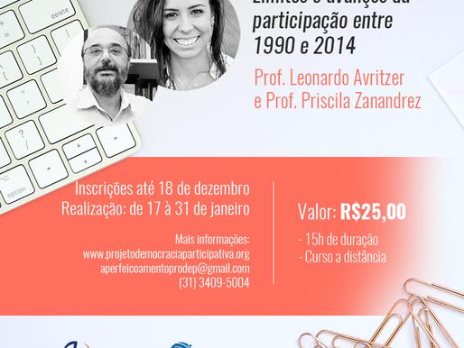 Inscrições para o curso 'Limites e avanços da participação entre 1994 e 2014' estão abertas
