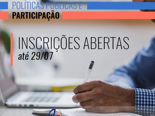 Inscrições: I Curso de Aperfeiçoamento em Teoria Democrática, Políticas Públicas e Participação
