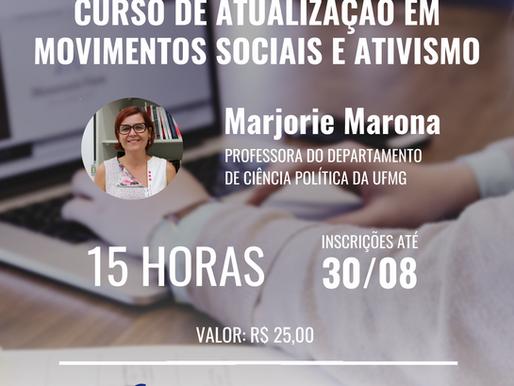 Inscrições abertas: curso de atualização em Movimentos Sociais e Ativismo Judicial