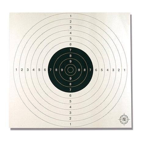 Cartons-cibles C50 blancs - 53 x 53 cm
