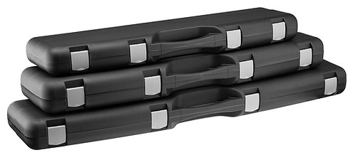 Mallettes noires en polypropylène pour arme 110 x 25 x 10 cm