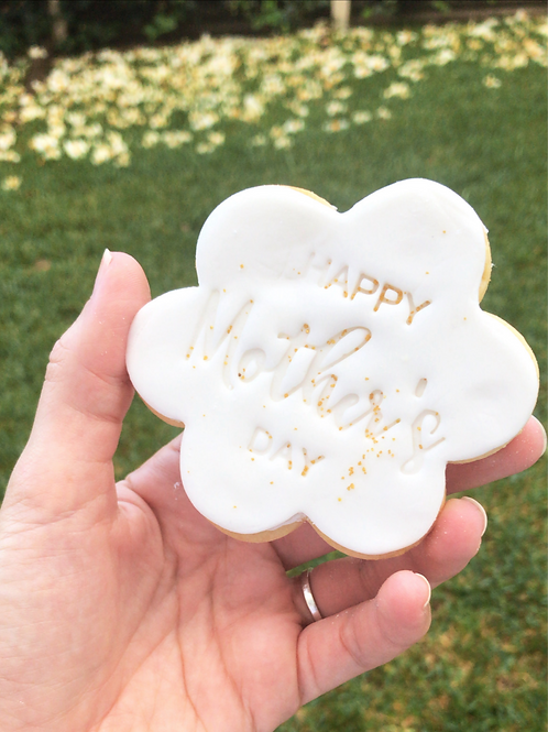 """""""Happy Mother's Day"""" Flower Cookie"""