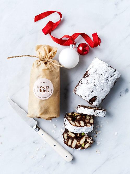 Festive Chocolate Log