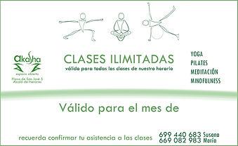 bono mensual de clases ilimitadas. Yoga, Pilates, Meditación, Mindfulness. Alcalá de Henares, Madrid