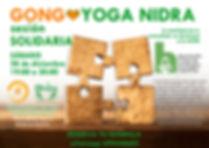 sesión soldaria en beneficio de la AECH. Gong + Yoga Nidra