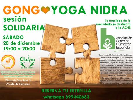 sesión SOLIDARIA. Gong + Yoga Nidra
