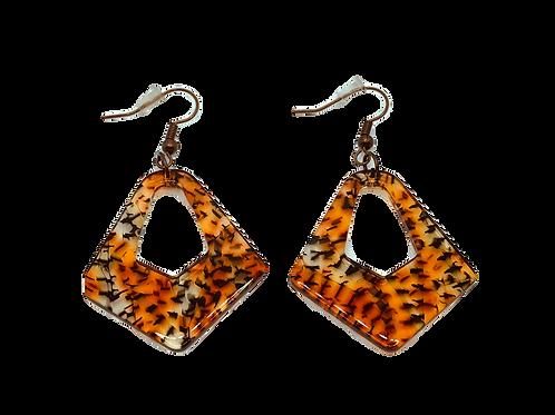 Cheetah Print Acrylic Earrings