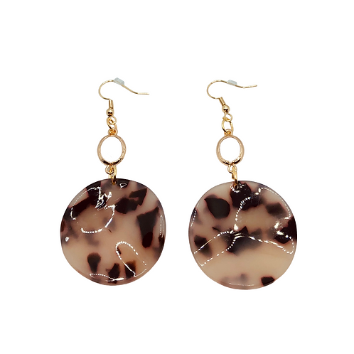 Speckled Wavy Round Earrings