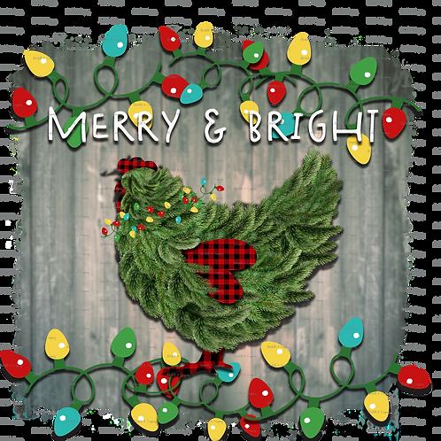 """Chicken """"Merry & Bright"""" TShirt"""
