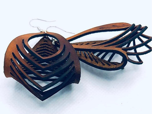 Sculpted Leather Hammock Earrings
