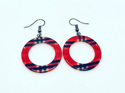 Plaid - Resin Acrylic Earrings - 3 choices