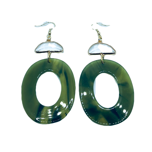 Spring Days Acrylic Earrings - Large