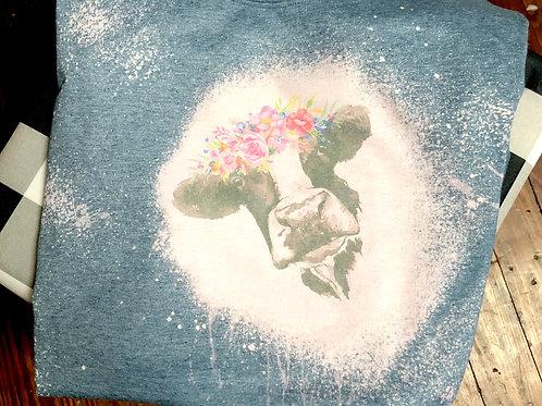 Daisy-Mae Vintage Style - Bleached TShirt