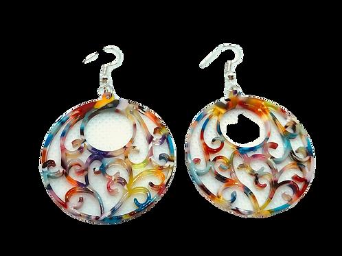 Sculpted Resin Earrings