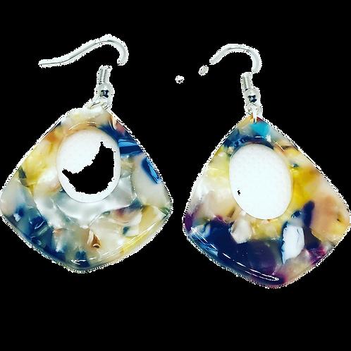 Deep Ocean - Resin Acrylic Earrings