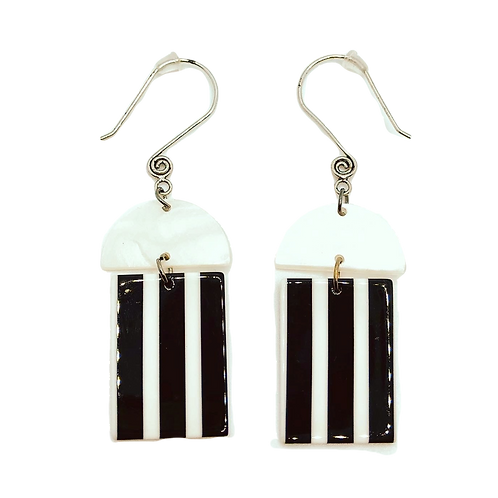 copy of Breakfast At Tiffany's - Rectangle Stacked Dangle Earrings