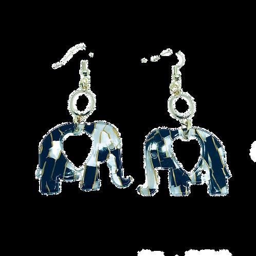 Elephant Earrings - Resin Acrylic