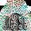 Thumbnail: Monogram Earrings - Light Pink/Blue Cheeta