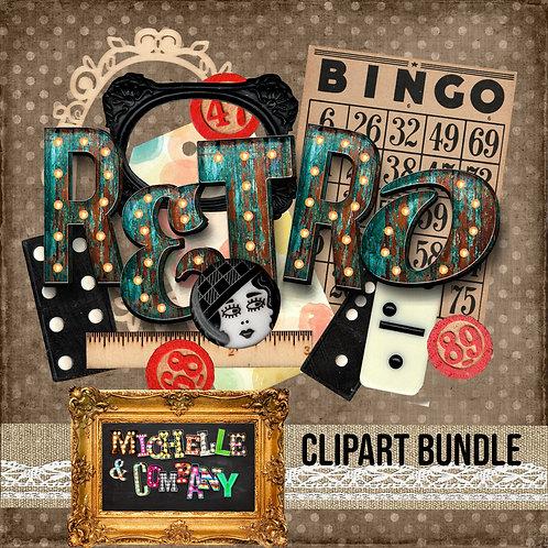 Retro Clipart Bundle