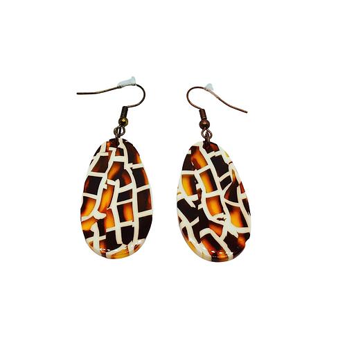 Tortoise Shell Resin Acrylic Earrings