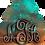 Thumbnail: Monogram Earrings - Copper Patina