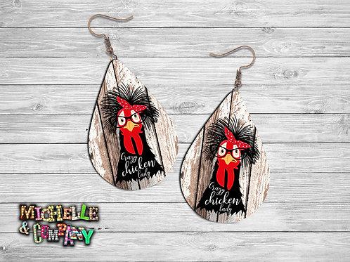 Crazy Chicken Lady - Earrings