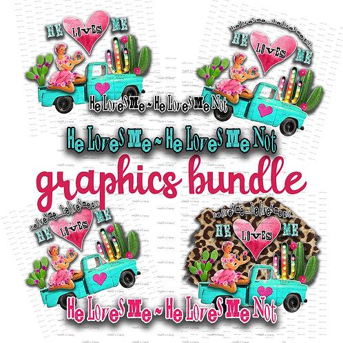 He Loves Me Graphic Bundle