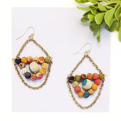 Kantha Chandelier Earrings