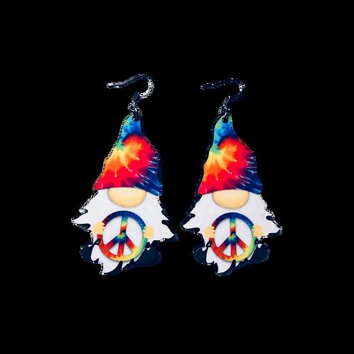 Peace Gnome Earrings