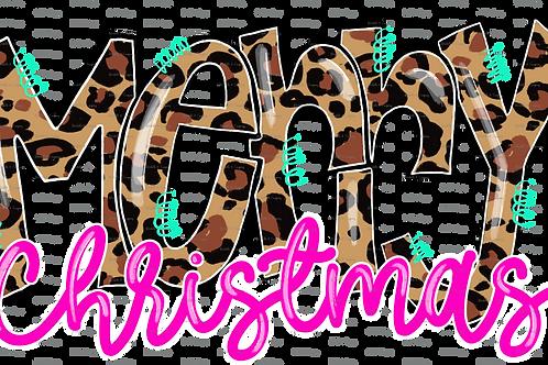 Merry Christmas (Leopard) - TShirt