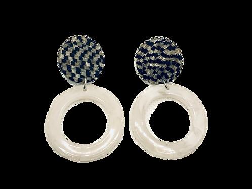 Mixed Tiles - Resin Acrylic Earrings